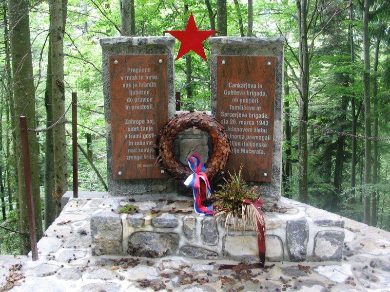 Spomenik pri Jelenovem Žlebu