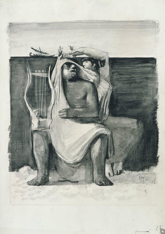 Marij Pregelj, Homer in muza pesništva, 1951