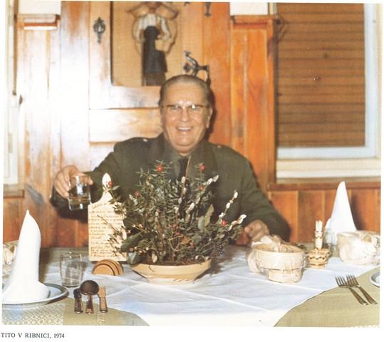 Tito v gostilni P'r Cenetu v Ribnici
