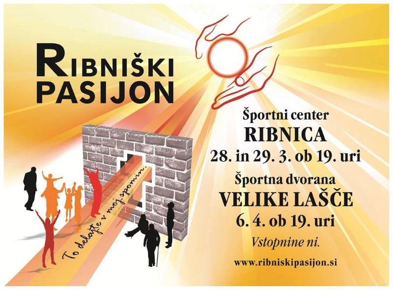 Ribniški pasijon 2015 - plakat