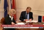 Podpis pogodbe za gradjo vodovodnega omrežja v Dravski dolini