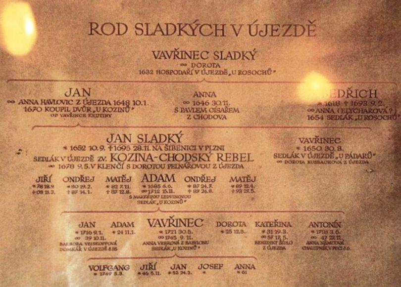 Začetni dokument o rodovini na Češkem (1648), (Foto Jože Kozina, 2010)